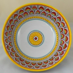 """BOWL """"PENNE DI PAVONE ROSSO ANTICO""""  FROM CM. 25"""