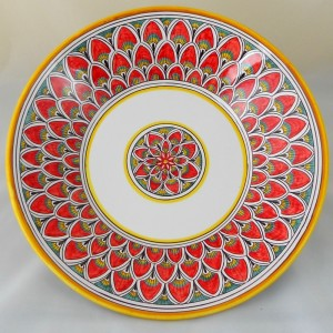 """BOWL """"PENNE DI PAVONE ROSSO""""  FROM CM. 32"""