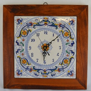 "CLOCK ""RICCO DERUTA"" WITH WOODEN FRAME FROM CM. 34"
