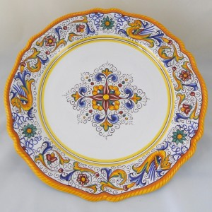 "SMOOTH ROUND TRAY  ""RAFFAELLESCO"" FROM CM. 37"