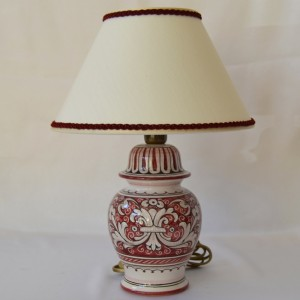 "LAMP  ""FONDO ROSSO ANTICO"" TO CM 12"