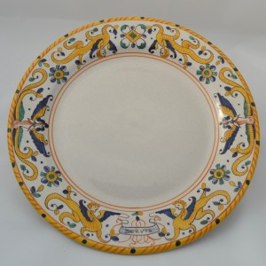 "TABLE FLAT PLATE ""RAFFAELLESCO ANTICO"" FROM CM 25"