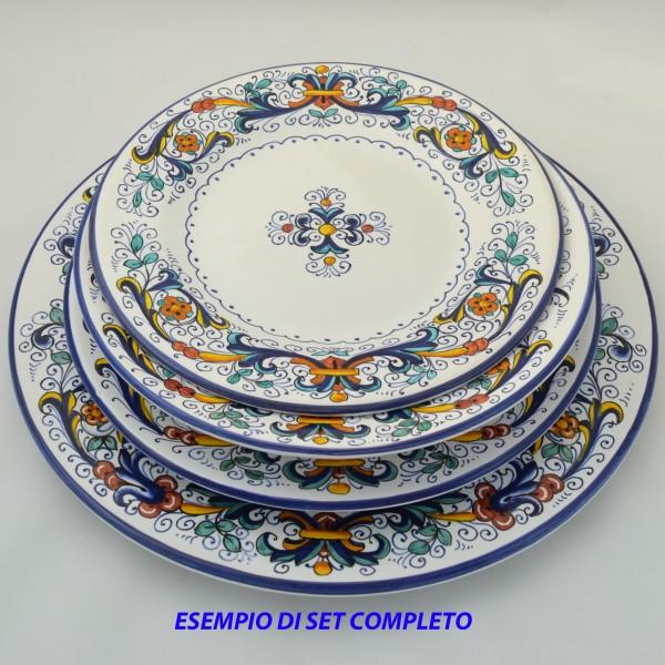Piatto da tavola sottopiatto ricco deruta da cm 32 - Ceramiche grazia bagno ...