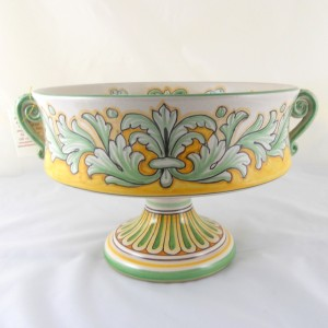"CUP ON HIGH FOOT WITH HANDLES ""FOGLIE VERDI"" FROM CM. 30"