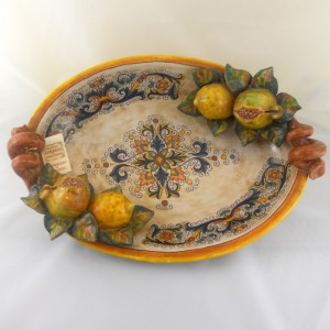 "CENTERPIECE WITH FRUIT APPLICATIONS ""RICCO DERUTA"" FROM CM. 46"